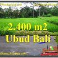 Exotic 2,800 m2 LAND FOR SALE IN Ubud Tampak Siring TJUB563