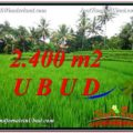 Affordable PROPERTY Sentral Ubud 2,400 m2 LAND FOR SALE TJUB587