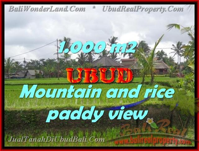 Exotic LAND FOR SALE IN UBUD Bali, Mountain and rice paddy view in Ubud Tegalalang– TJUB424