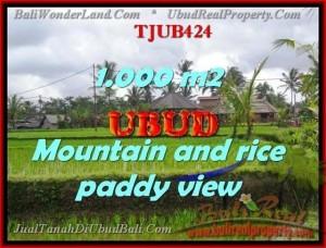 Magnificent 1,000 m2 LAND SALE IN UBUD TJUB424