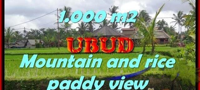 Magnificent 1,000 m2 LAND SALE IN UBUD TJUB424