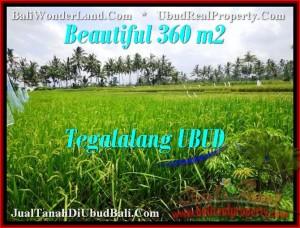 Beautiful PROPERTY 360 m2 LAND SALE IN UBUD BALI TJUB482