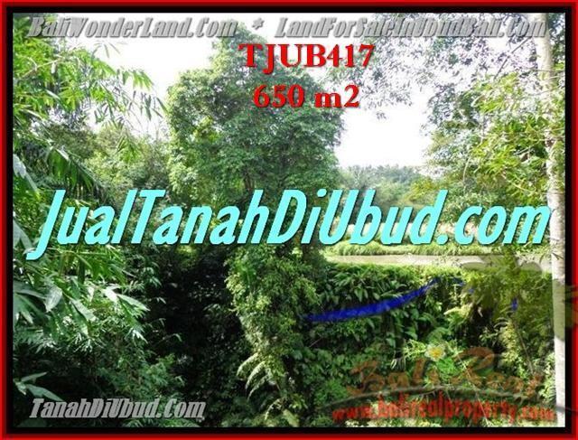 Magnificent PROPERTY UBUD BALI 650 m2 LAND FOR SALE TJUB417