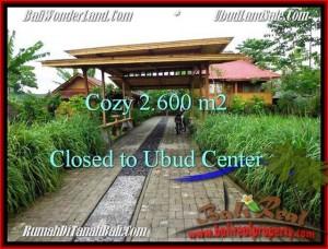 Exotic 2,600 m2 LAND SALE IN UBUD BALI TJUB491
