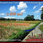 Magnificent 2,800 m2 LAND SALE IN UBUD BALI TJUB498