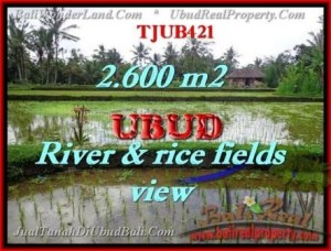 Magnificent 2,600 m2 LAND SALE IN UBUD BALI TJUB421