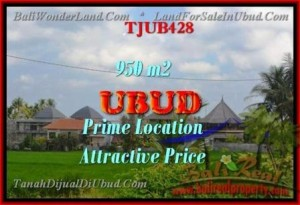Magnificent PROPERTY 950 m2 LAND IN Sentral Ubud FOR SALE TJUB428