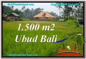 Exotic 1,500 m2 LAND IN UBUD BALI FOR SALE TJUB558
