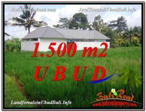 Magnificent 1,500 m2 LAND IN UBUD BALI FOR SALE TJUB600