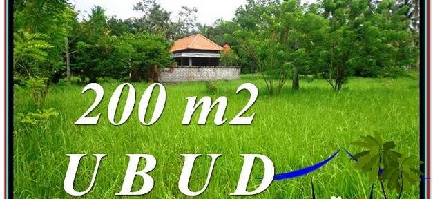 FOR SALE Exotic 200 m2 LAND IN UBUD TJUB584