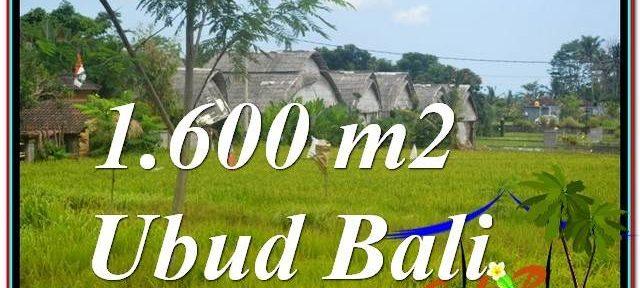 Exotic UBUD BALI 1,600 m2 LAND FOR SALE TJUB633
