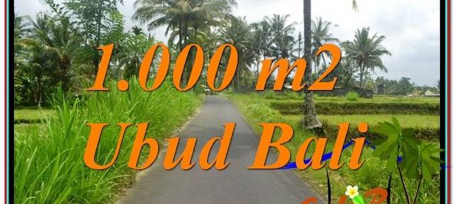 FOR SALE Exotic 1,000 m2 LAND IN UBUD TJUB634