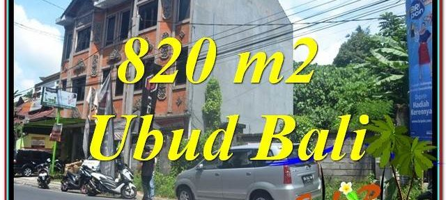 Magnificent PROPERTY Sentral / Ubud Center 820 m2 LAND FOR SALE TJUB643