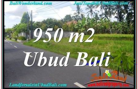 UBUD 950 m2 LAND FOR SALE TJUB648