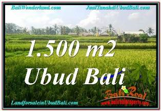 Magnificent 1,500 m2 LAND SALE IN UBUD BALI TJUB667