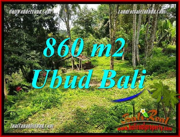 Affordable Property 860 m2 Land sale in Ubud Tegalalang TJUB691