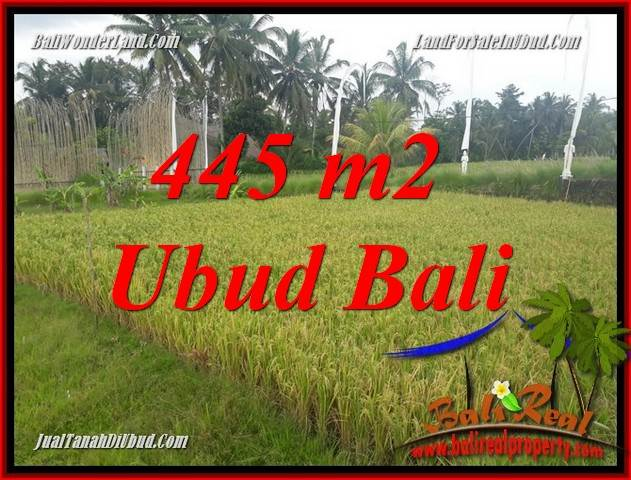 Exotic 445 m2 Land in Ubud Pejeng for sale TJUB695