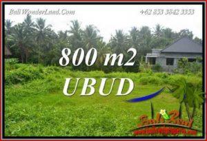 Exotic Property 800 m2 Land in Sentral Ubud for sale TJUB706