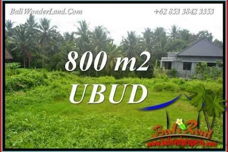 Exotic Property 800 m2 Land in Sentral Ubud for sale TJUB706