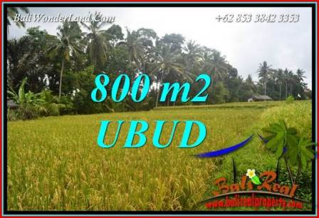 FOR sale Exotic 800 m2 Land in Ubud Bali TJUB707