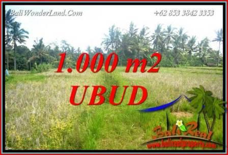 Beautiful 1,000 m2 Land sale in Ubud Bali TJUB727