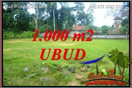 Beautiful 1,000 m2 Land sale in Ubud Pejeng TJUB728