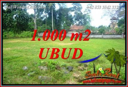 Affordable 1,000 m2 Land in Ubud Bali for sale TJUB728