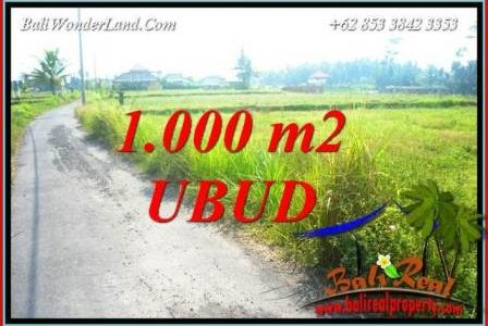 Beautiful 1,000 m2 Land for sale in Ubud Pejeng TJUB739