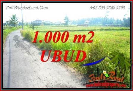 FOR sale Magnificent 1,000 m2 Land in Ubud Bali TJUB739