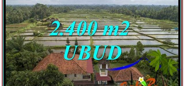 Beautiful PROPERTY Ubud Pejeng 2,400 m2 LAND FOR SALE TJUB761