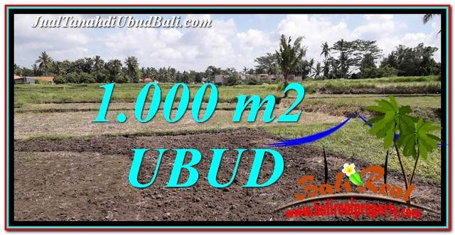 Affordable PROPERTY Sentral Ubud 1,000 m2 LAND FOR SALE TJUB765
